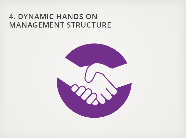 4. Dynamic, Hands-on Management Structure