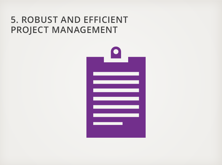 5. Robust and Efficient Project Management
