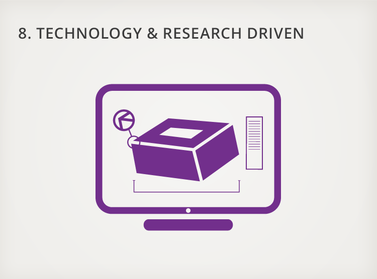 8. Technology and Research Driven